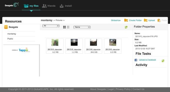 Seagate Central Remote Access Web UI