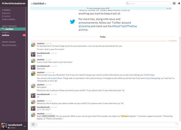 slack slackbot making profile blur