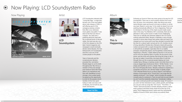 slacker radio windows 8