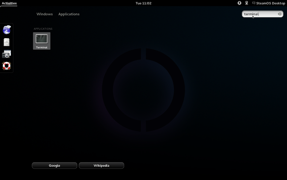 SteamOS Desktop Screen