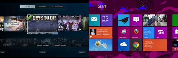 SteamOS Windows 8