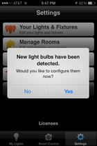 tcp app bulbs detected