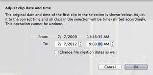 time and date imovie