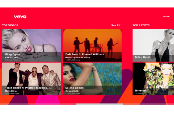 vevo windows8 free