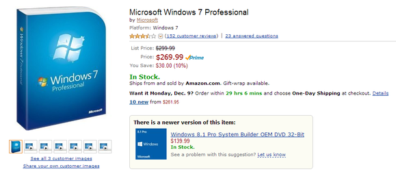 windows 7 amazon