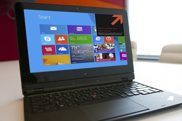 windows 8.1 on a laptop