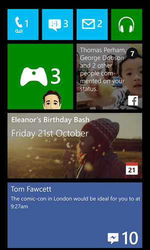 windows phone facebook live tiles