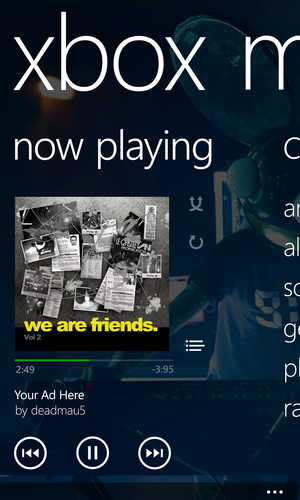windows phone xbox music