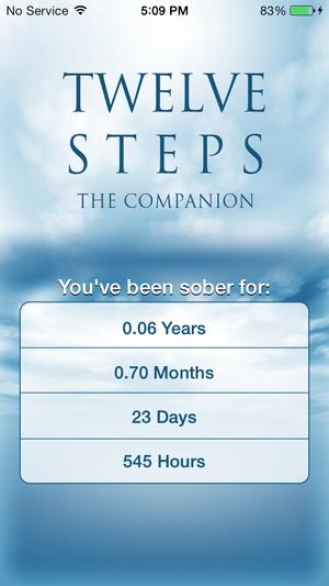 12 steps aa companion home screen w calculator