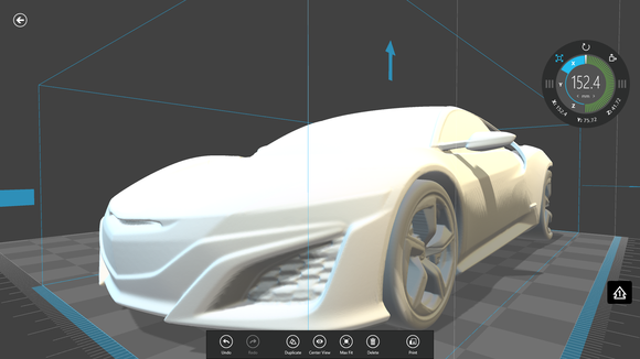 acura nsx 3d printed model1