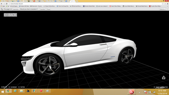 acura nsx 3d printing model image