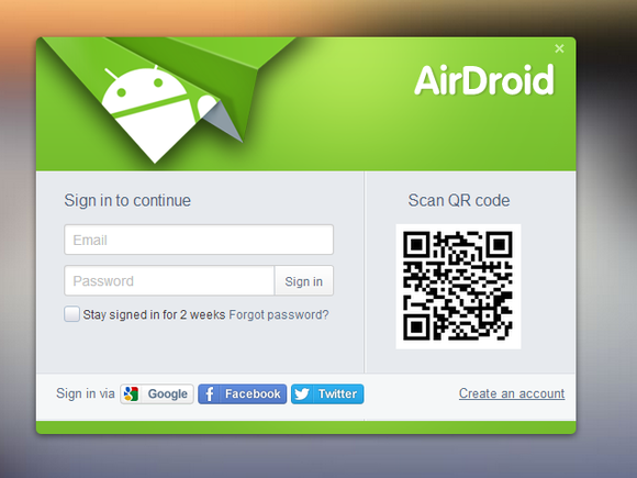 airdroid web qr code