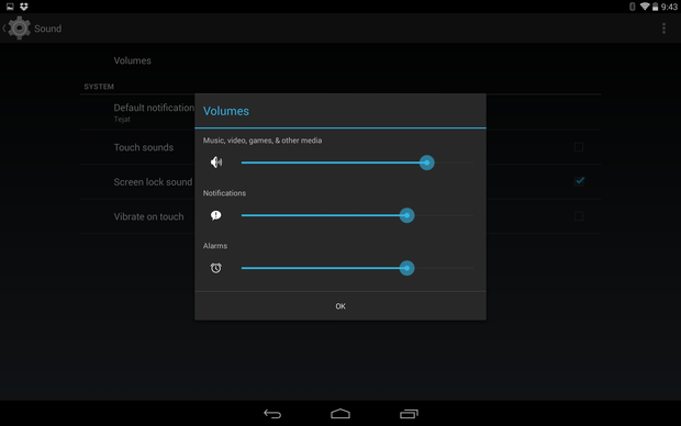 android volumes