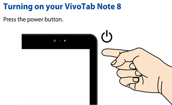 asus vivotab manual leak power