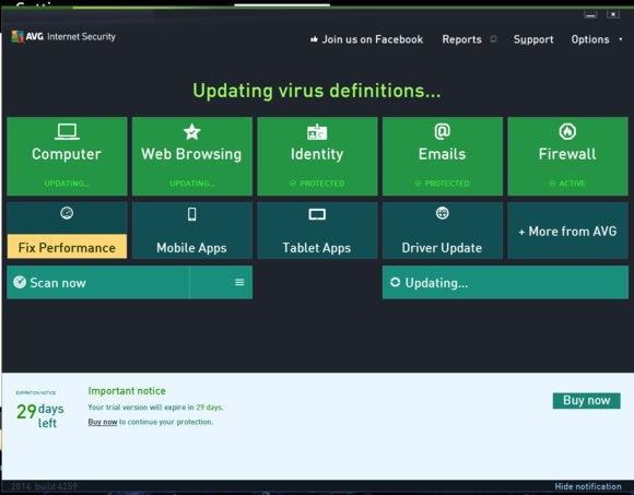 avg main screen