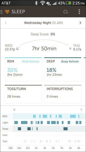 basis sleep vertical