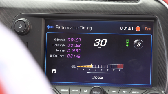 chevy stingray performance data