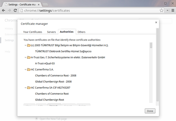chromebook vpn security certificates