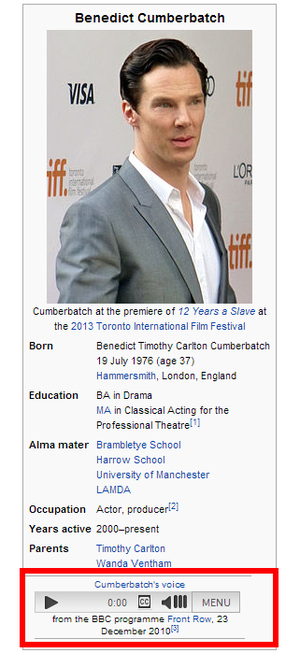 cumberbatch wikipedia voice