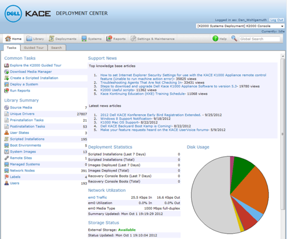 dell kace home page