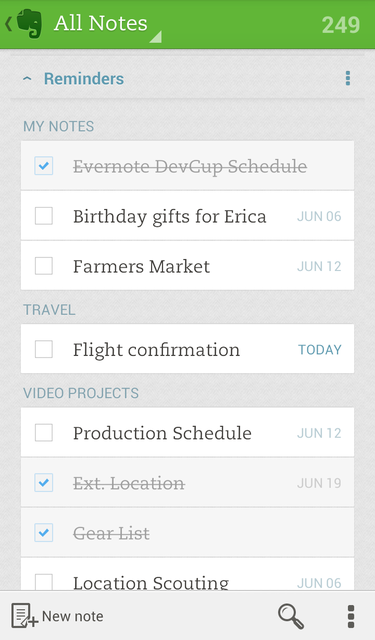 evernote android 3