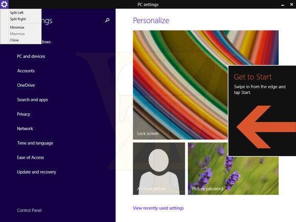 get to start windows 8.1 update 1