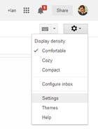 gmail settings cog