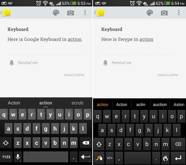 google keyboard swype