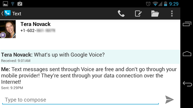 googlevoice texting