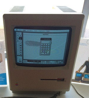 MacPaint on a Macintosh 128K