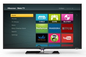 Roku TV home screen on a Hisense TV