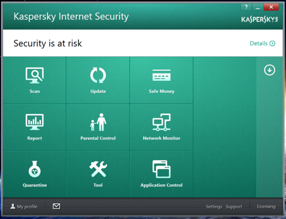 kaspersky other options