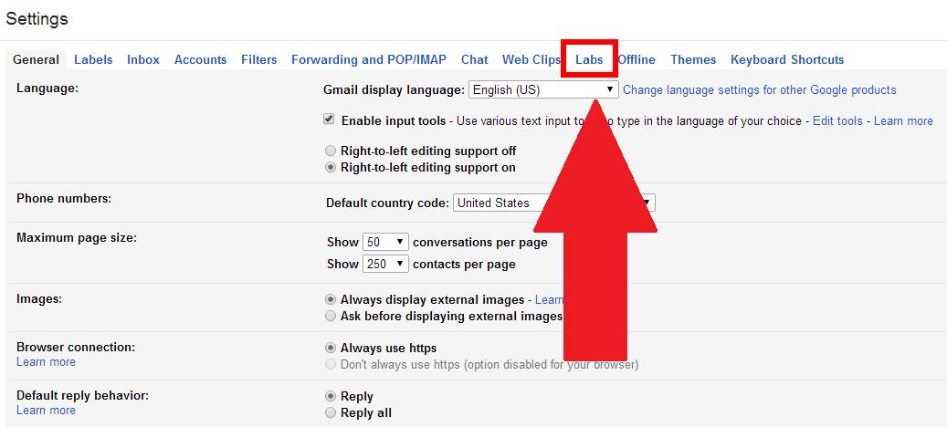 Kết quả hình ảnh cho Gmail Labs