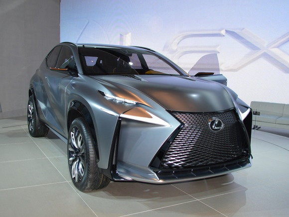 lexus lf nx  naias detroit auto show jan 2014