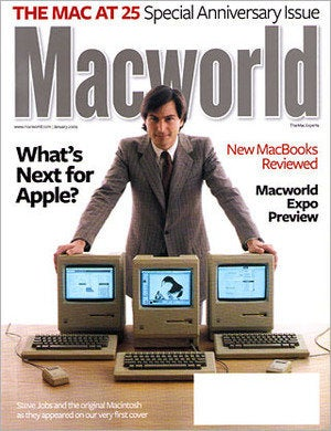 Macworld 25th anniversary Mac cover