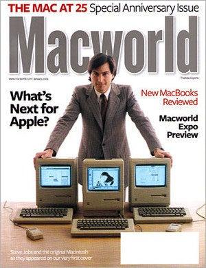 Macworld 25th anniversary Mac cover