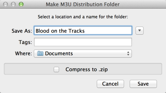 make m3u distribution folder