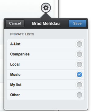 manage list