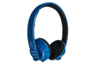 meelectronics air fi af32 bluetooth headphones blue