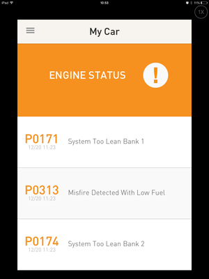 metromile check engine data dec 2013