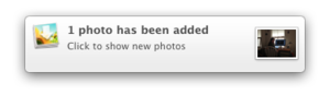 myphotostream notification