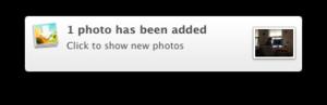 myphotostream notification