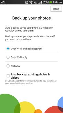photo backup google plus