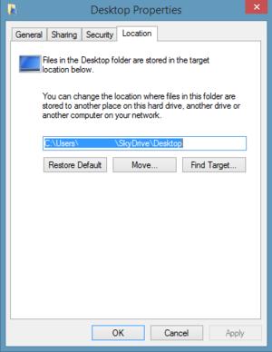 property window desktop file path