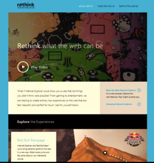 rethink homepage