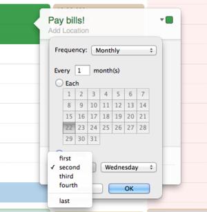 scheduling calendar osx