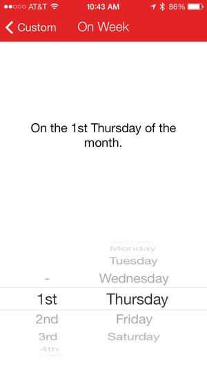 scheduling fantastical iphone