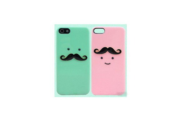 skmen jelly3dchrome mustache iphone