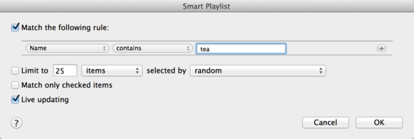 smart playlist tea