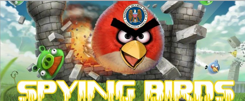 Hackers Transform Angry Birds Website Into Spying Birds - Famous logos redesigned as angry birds characters